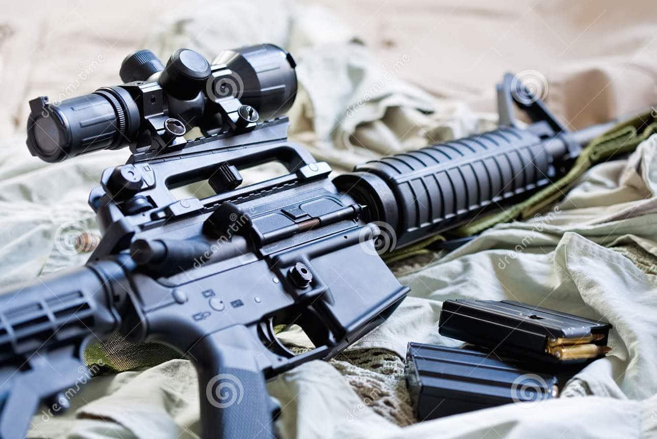 AR-15 with Magazine