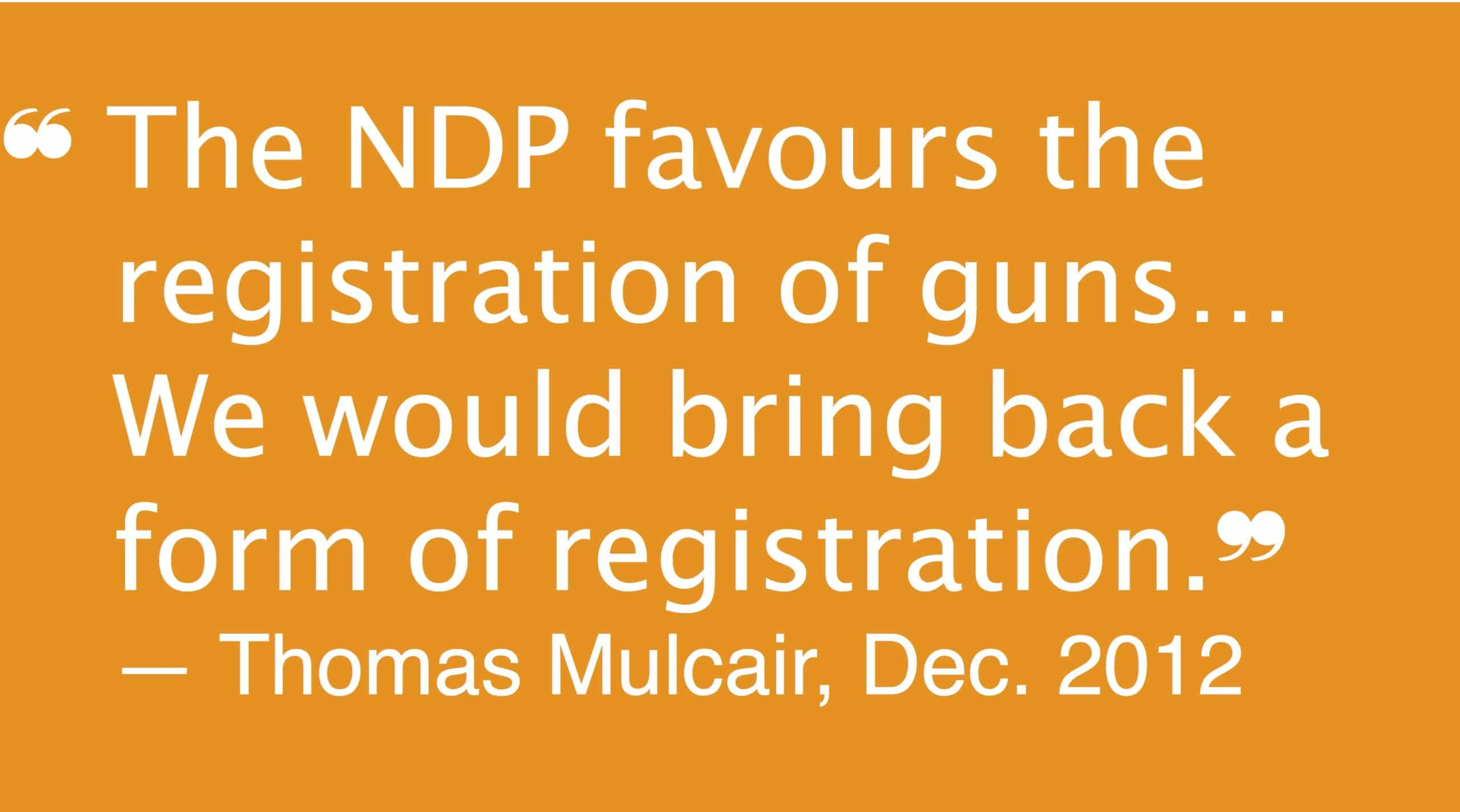 Canada gun registration politics