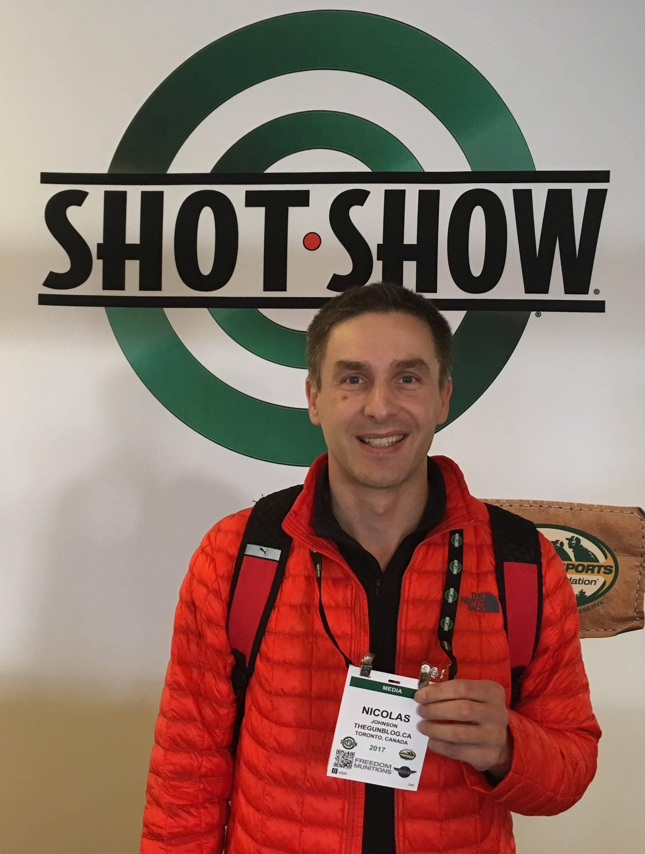 Media Badge for SHOT Show in Las Vegas gun shooting