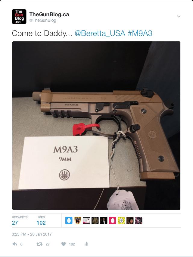 Beretta M9A3 Tweet