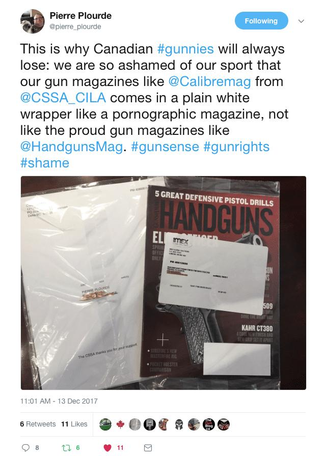 Pierre Plourde Calibre Handguns Magazine Twitter