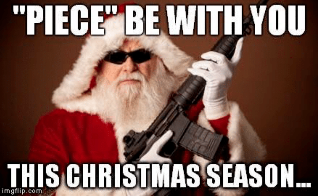 Santa Claus With Gun