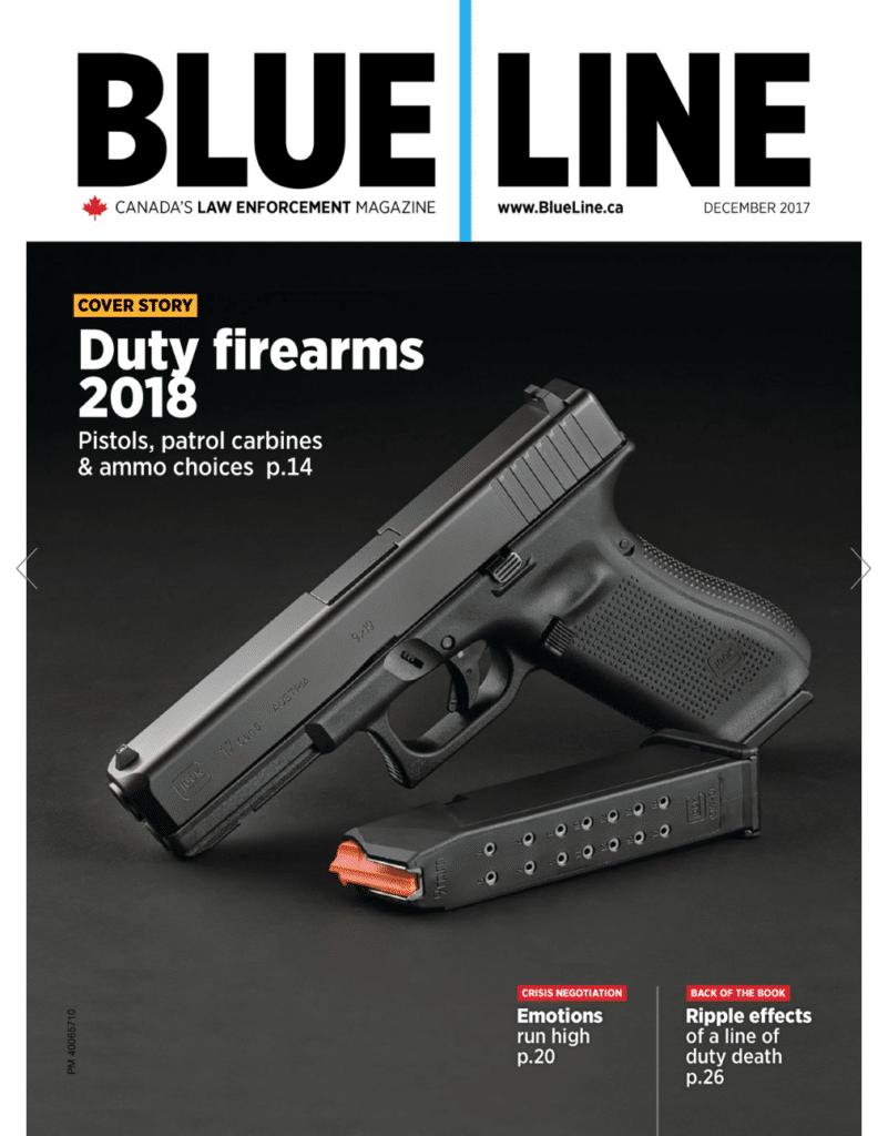 Blue Line Magazine Canada Police Guns 2018