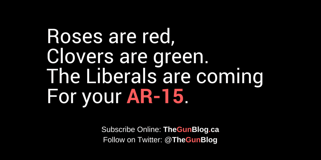 Roses are red clovers are green liberals coming ar-15