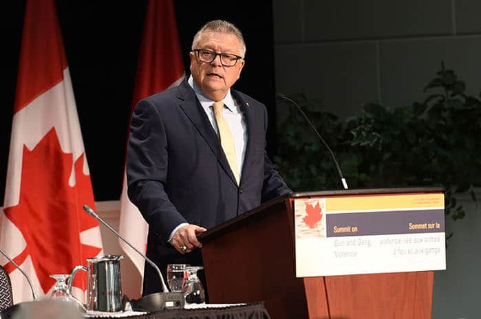 Canada Ralph Goodale Gun and Gang Violence