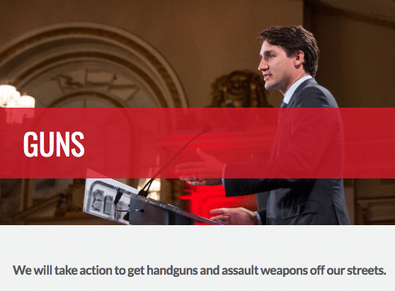 Canada Liberal Party Guns Policy