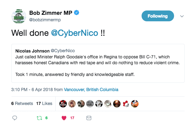 MP Bob Zimmer CyberNico