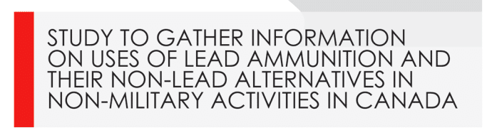 Canada Guns ToxEcology Study of Lead Ammunition