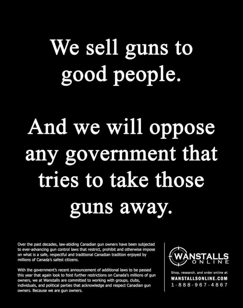 Wanstalls Ad C-71 Guns Canada