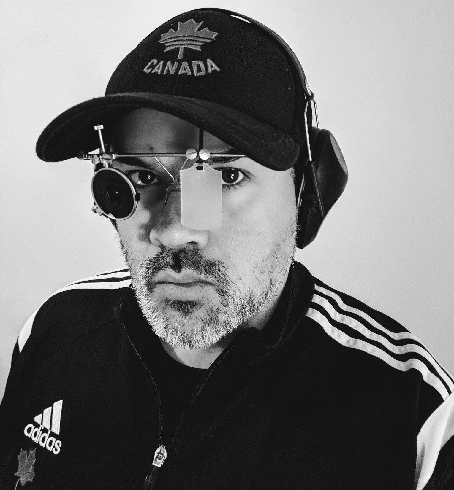 Allan Harding with shooting glasses. Source: Allan Harding.