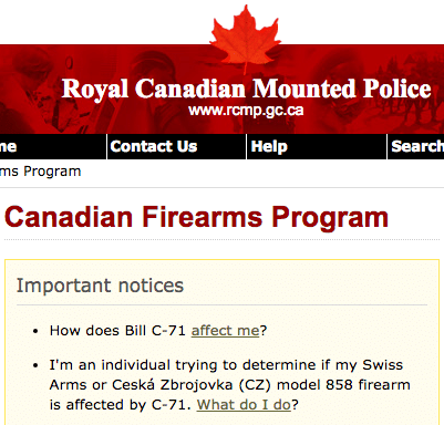 RCMP Website Bill C-71