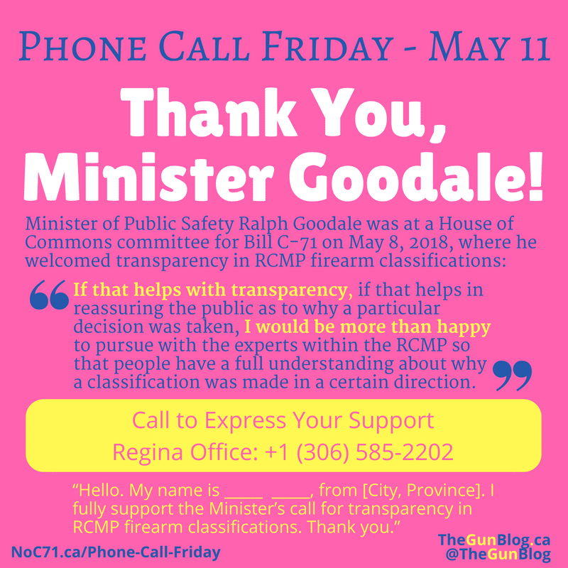 Phone Call Friday Ralph Goodale