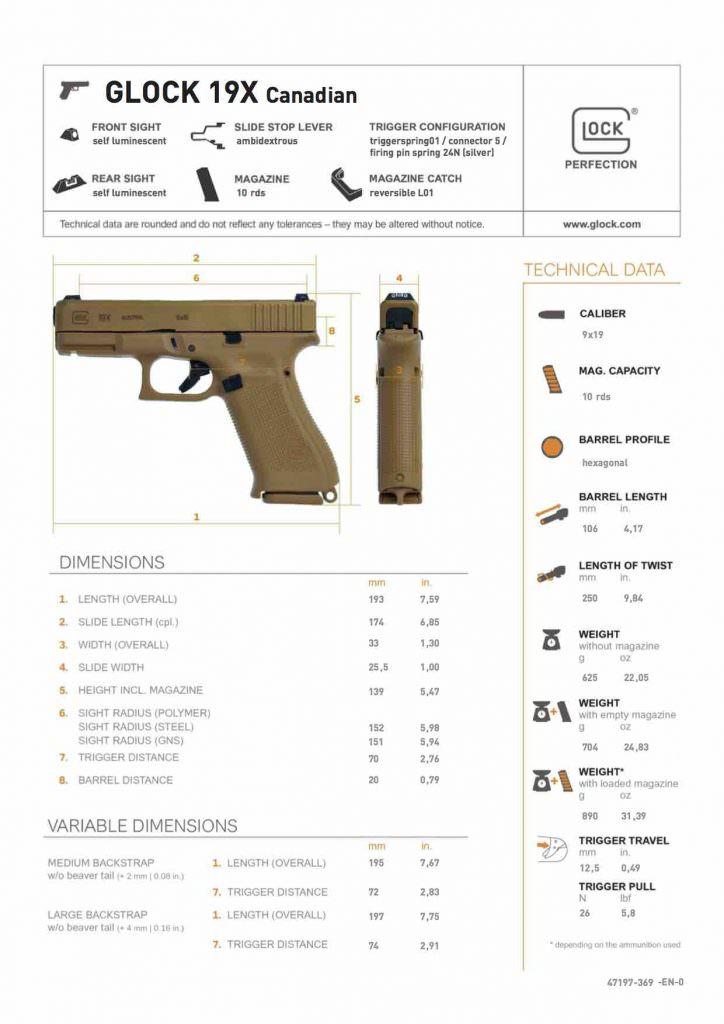 Glock 19X Canadian