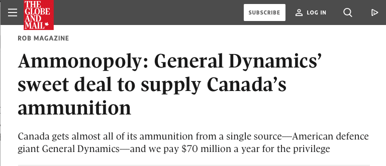 Screen Shot 2018 07 16 at 14.49.12 - 'Ammonopoly' by Globe and Mail Dives Into History of Ammo Supply