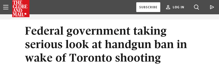 Screen Shot 2018 07 27 at 06.33.11 - Trudeau May Decide to Ban Handguns Next Month, Globe Reports