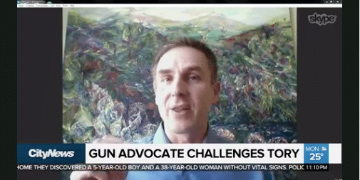 City TV News Gun Advocate Challenges Tory