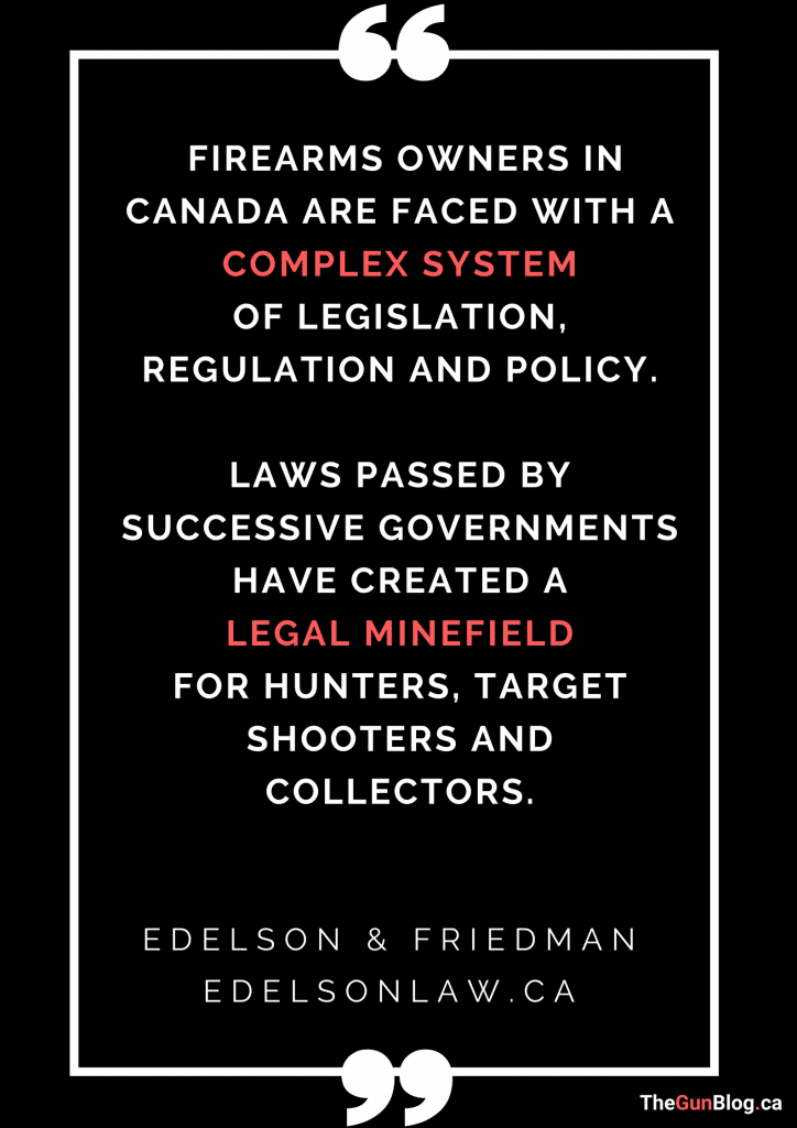 Edelson Friedman Legal Minefield Firearms Law