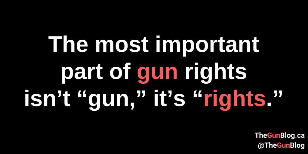 The most important part of gun rights isn't gun, it's Rights