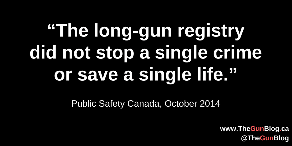 Long gun registry did not stop a single crime - Cards