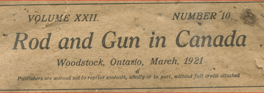 Rod and Gun in Canada