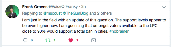Frank Graves Tweet 90% of Liberals Support Bans in Cities