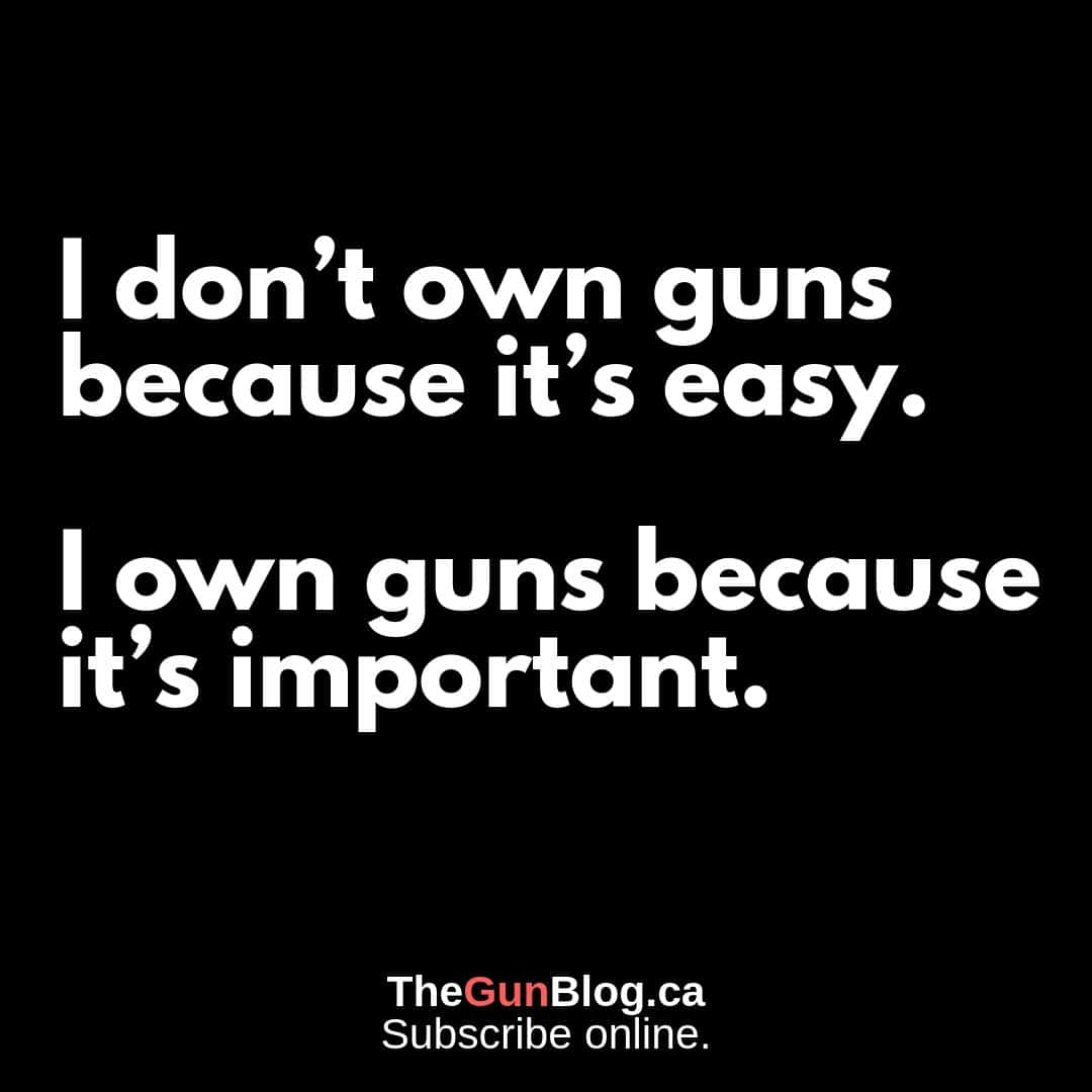 I Own Guns Because Important