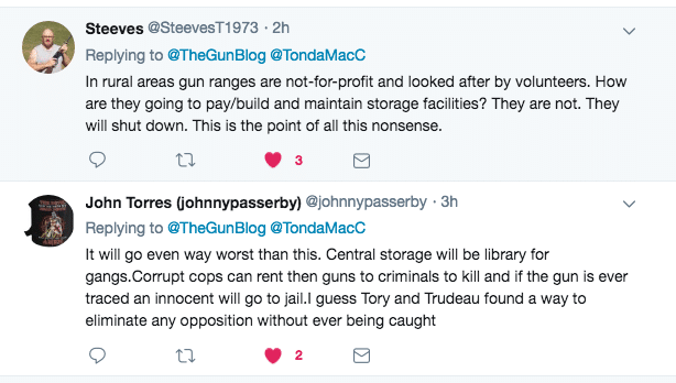 Twitter Comments - Canada May Ban Home Handgun Storage, Toronto Star Reports