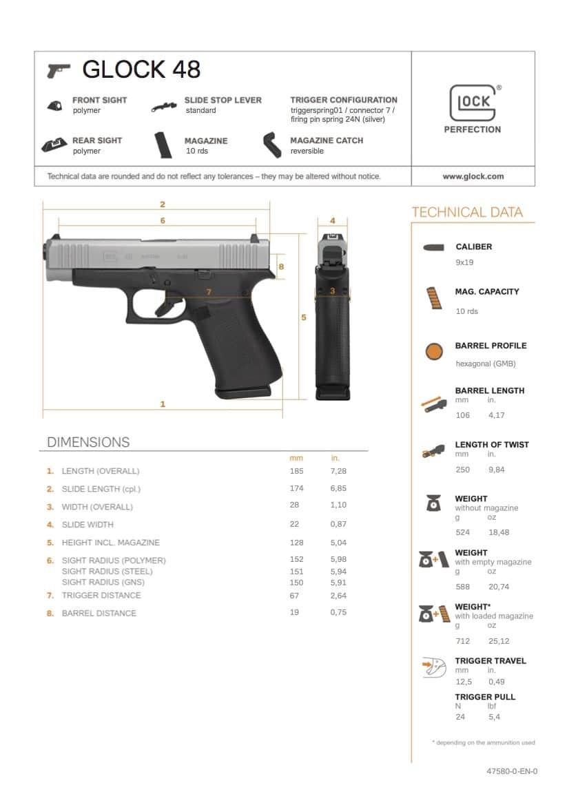 Glock 48 Specs