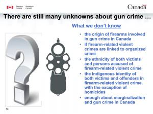What We Don't Know - The Origin of Firearms Involved in Gun Crime in Canada