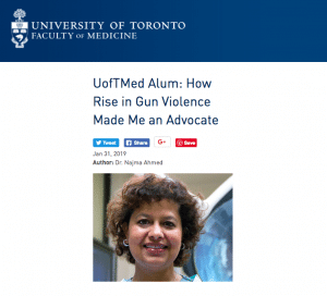 Najda Ahmed Screenshot 300x272 - New Canadian Doctors Group Aims to Ban Guns From Licensed Owners