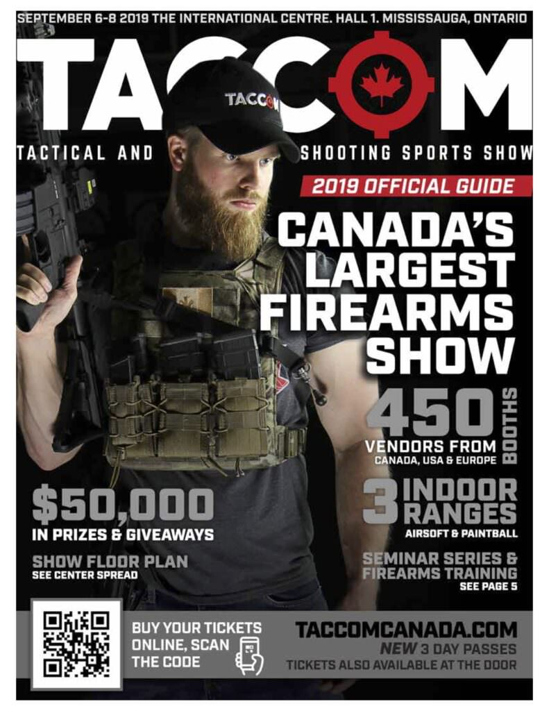 TACCOM 2019 Magazine Cover 791x1024 - TACCOM: Visit Canada's Tactical & Competitive Shooting Show