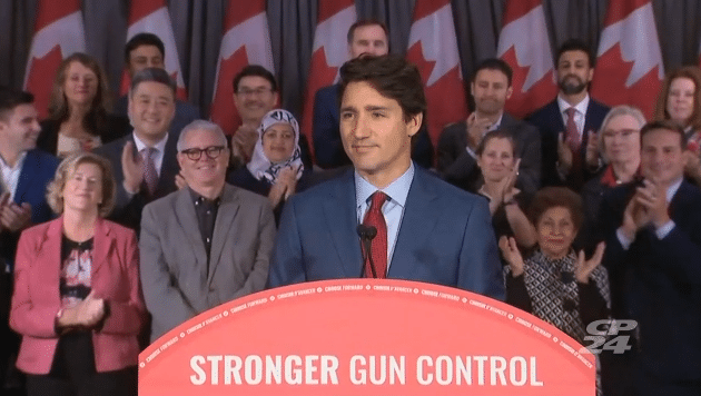 Trudeau Promises Mass Gun Bans, Confiscations in Election 2019