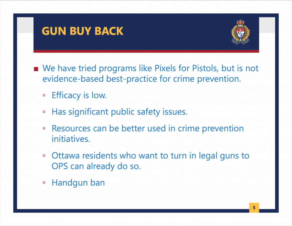 Ottawa Police Service Slide Presentation 02 March 2020 1024x792 - Ottawa Police Opposes Mass Gun Confiscations Sought by Liberals