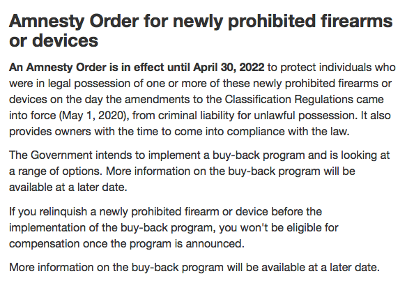 2020 05 08 RCMP Grandfathering - RCMP Deletes 'Grandfathering' Option From Web Page on Gun Bans