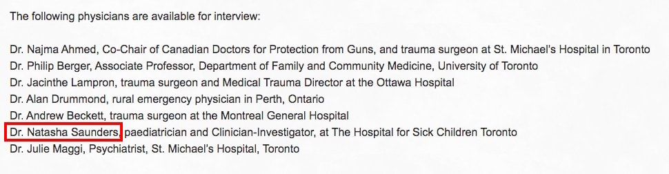 CMAJ Corrects Report to Disclose Doctors' Links to Anti-Gun Lobby