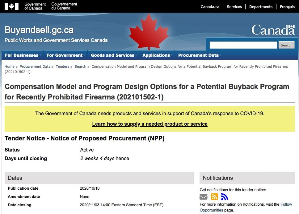 Liberals Revise Gun-Confiscation Contract and Invite New Bidders